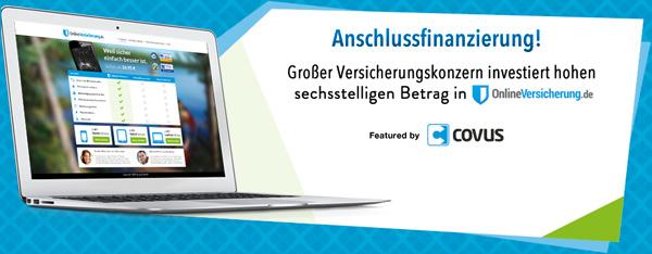 Großer Versicherungskonzern investiert hohen sechsstelligen Betrag in OnlineVersicherung.de