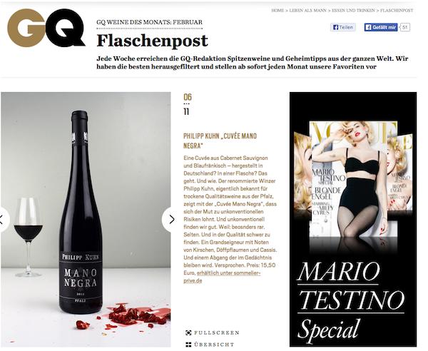 Sommelier Privé goes TV, Wein Journal und GQ