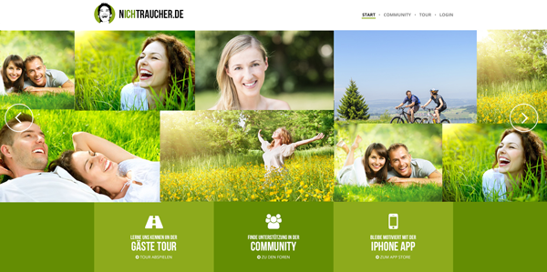 New Features on nichtraucher.de and many New Contacts
