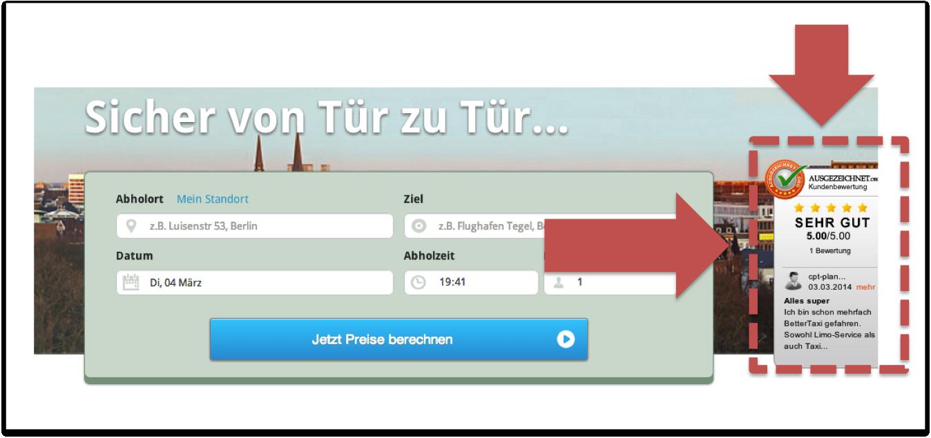 BetterTaxi führt Rating-System ein und ermöglicht Online-Zahlung