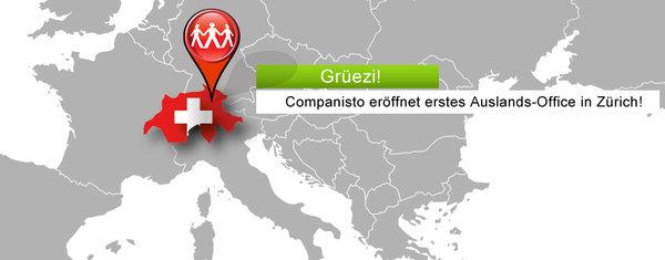Companisto eröffnet Office in Zürich