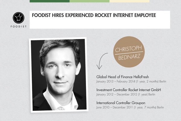 Foodist Hires Former HelloFresh Head of Finance