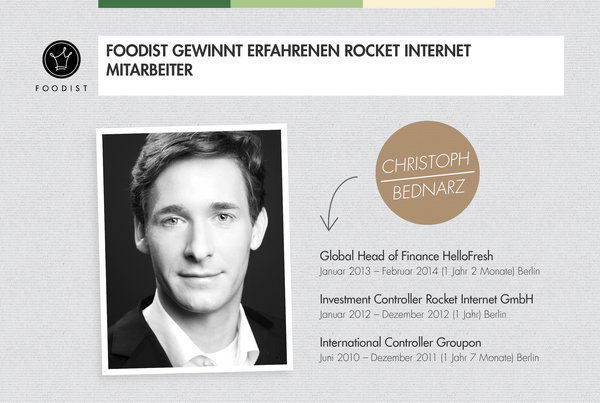 Ehemaliger Global Head of Finance von HelloFresh wechselt zu Foodist