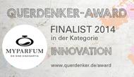MYPARFUM im Innovation-Award Finale und Bitte um Mithilfe