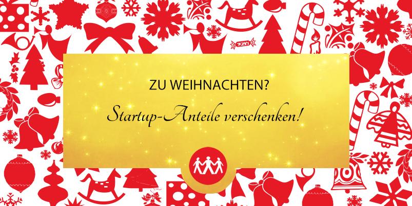 Anteile zum Fest - zu Weihnachten Companisto-Gutscheine verschenken