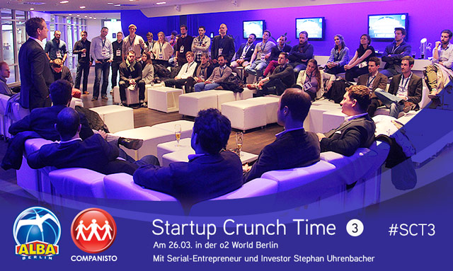 ALBA BERLIN and Companisto Present: Startup Crunch Time at o2 World Berlin