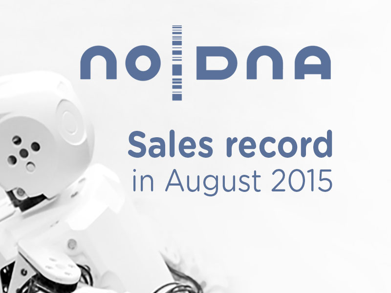 noDNA Sees Record Sales in August