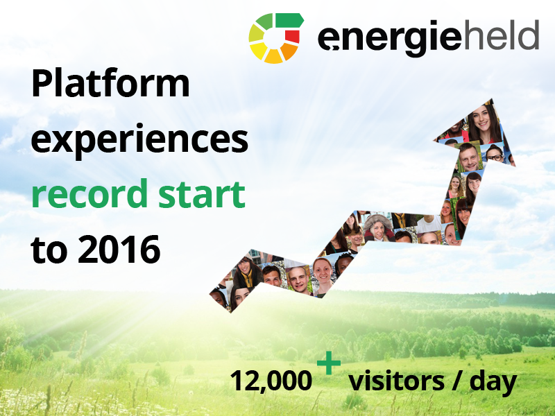energieheld significantly exceeds target and begins the new year with a record