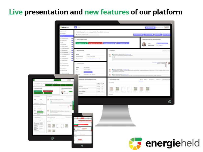 Energieheld Adds New Features and Provides Investors with a Look behind the Scenes of Its Platform
