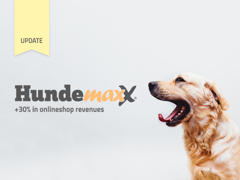 Hundemaxx increases online shop revenues by 30% since campaign launch
