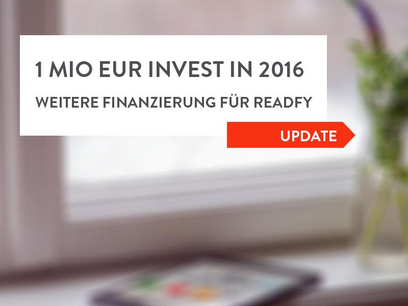 readfy schließt weitere Finanzierungsrunde ab