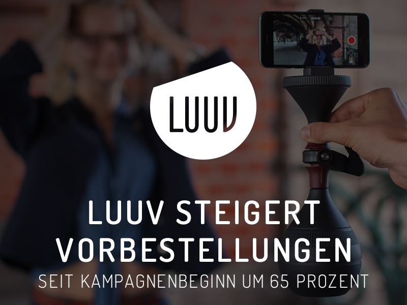 LUUV steigert Vorbestellungen seit Kampagnenbeginn um 65 Prozent