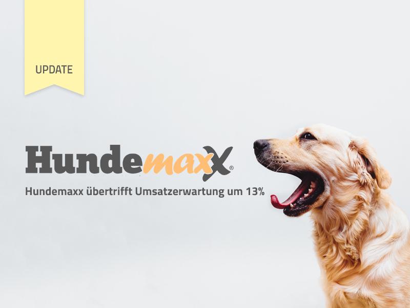 Hundemaxx übertrifft Umsatzerwartung für 2016 bisher um 13%