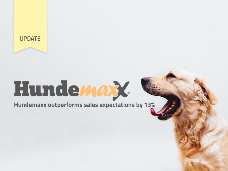 Hundemaxx outperforms 2016 sales expectations by 13% so far