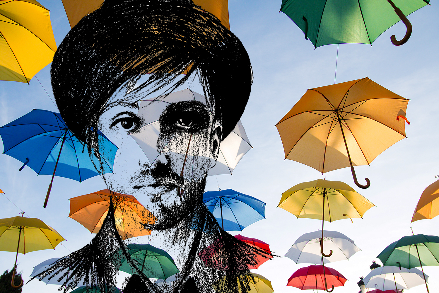 Der mit den Regenschirmen tanzt
