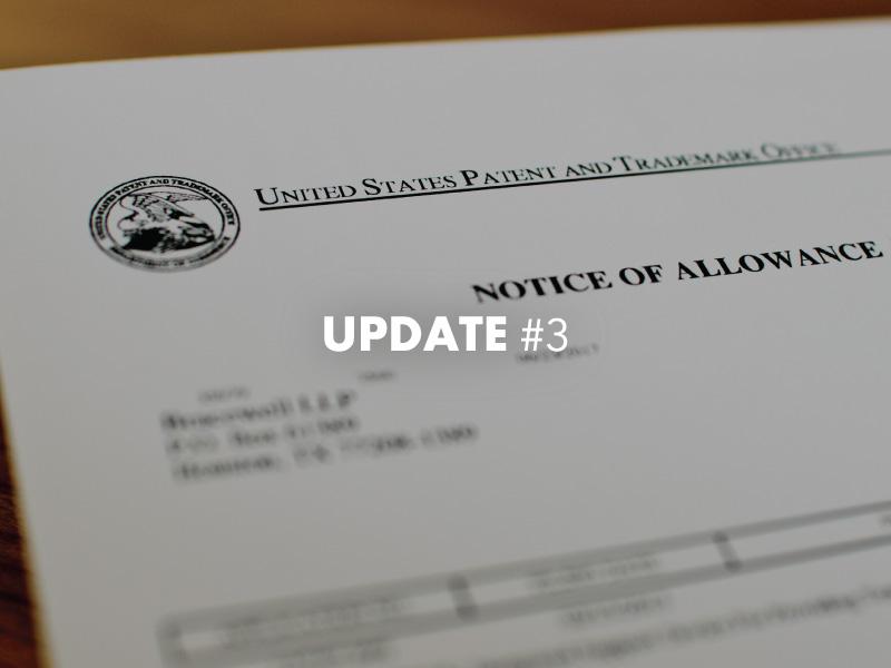 Zusicherung der Erteilung angemeldeter Patentansprüche und Anmeldung eines neuen US-Patents