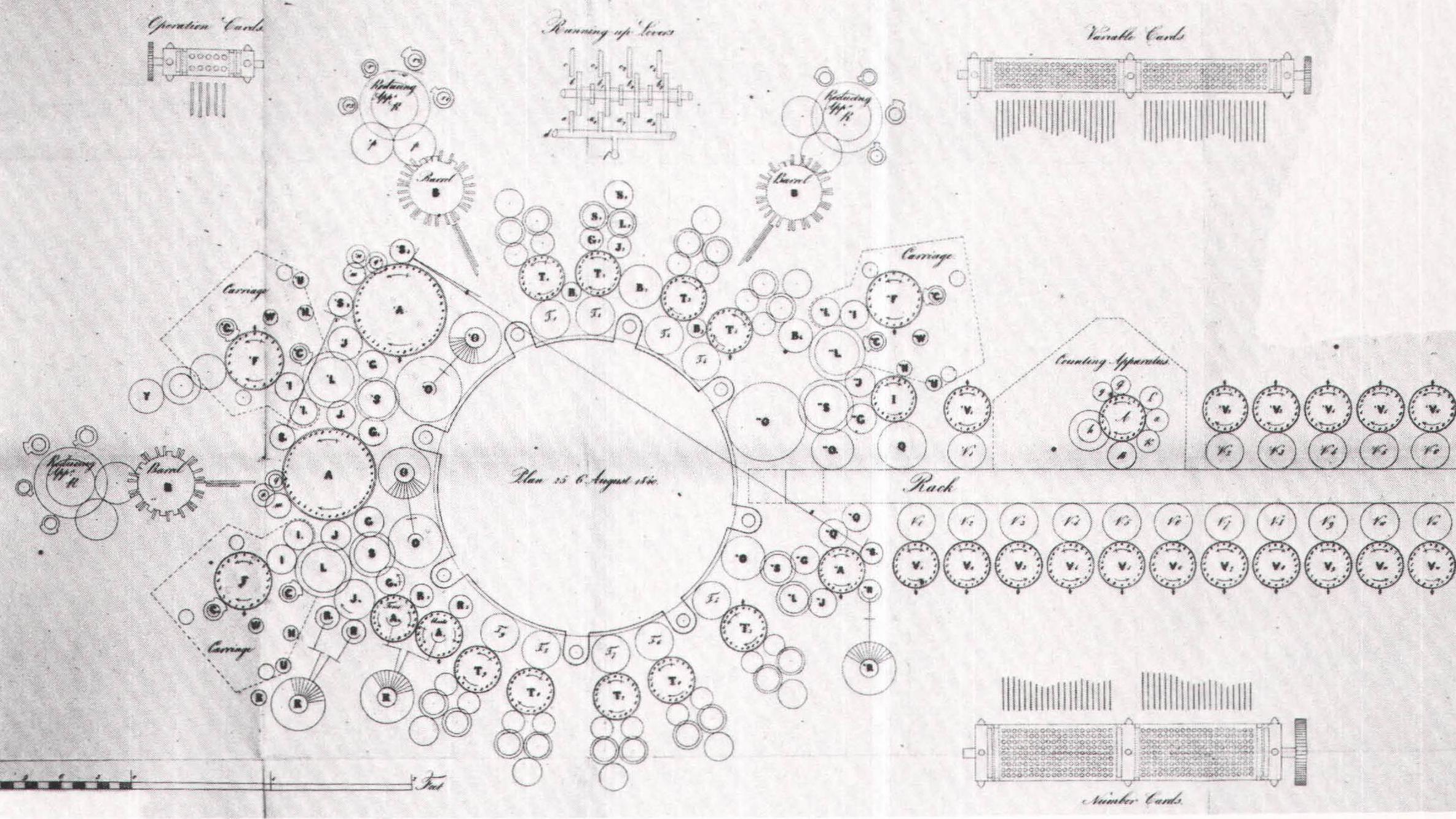 Charles Babbage's Pläne der