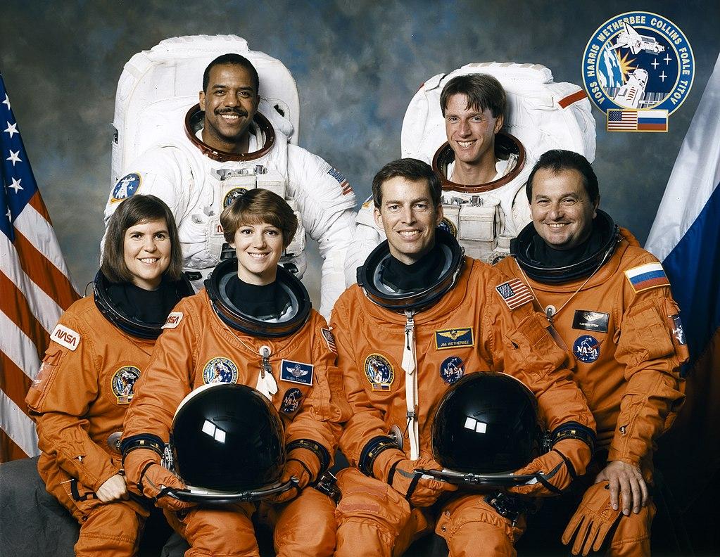 Die Crew an Bord der Discovery, Quelle: NASA
