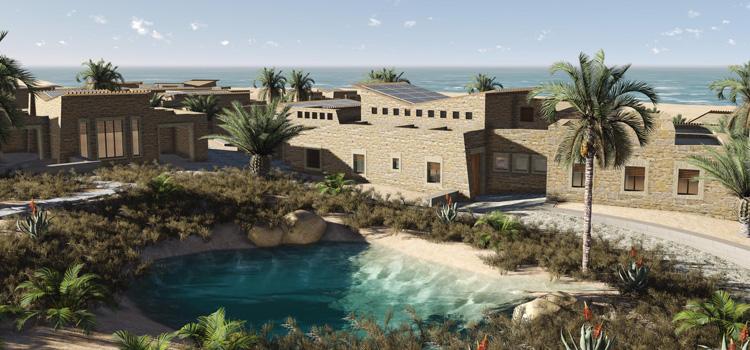 So könnten die solar-betriebenen Häuser und Dörfer in der entlegenen Wüste aussehen, wenn es nach KarmSolar geht,©KarmSolar