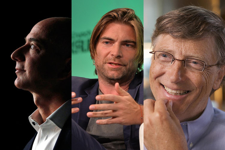 Jeff Bezos, Morton Lund und Bill Gates