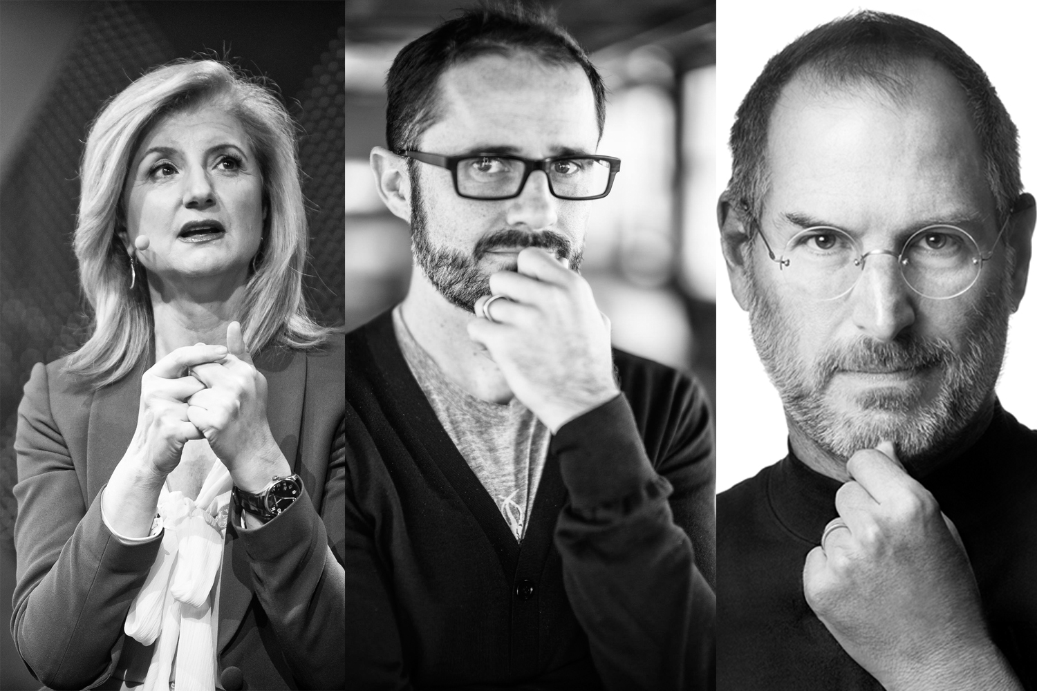 Arianna Huffington, Evan Williams und Steve Jobs