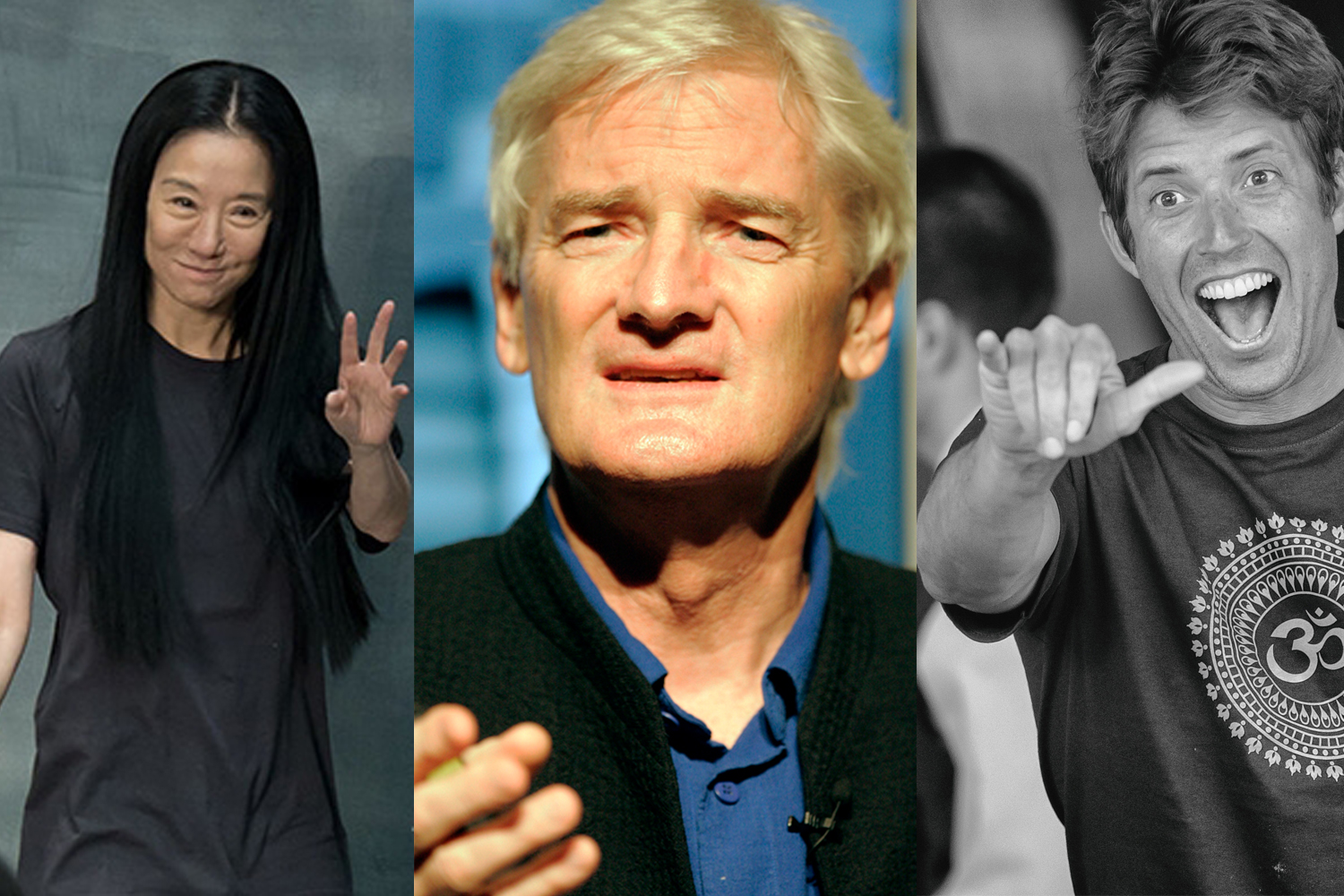 Vera Wang, Sir James Dyson und Nick Woodman