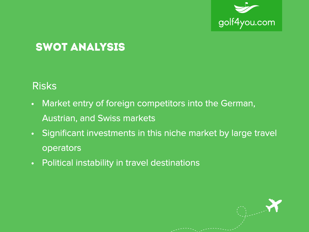 golf4you - SWOT Analysis Risks