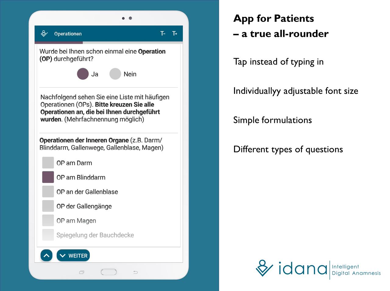 Idana - Patient App