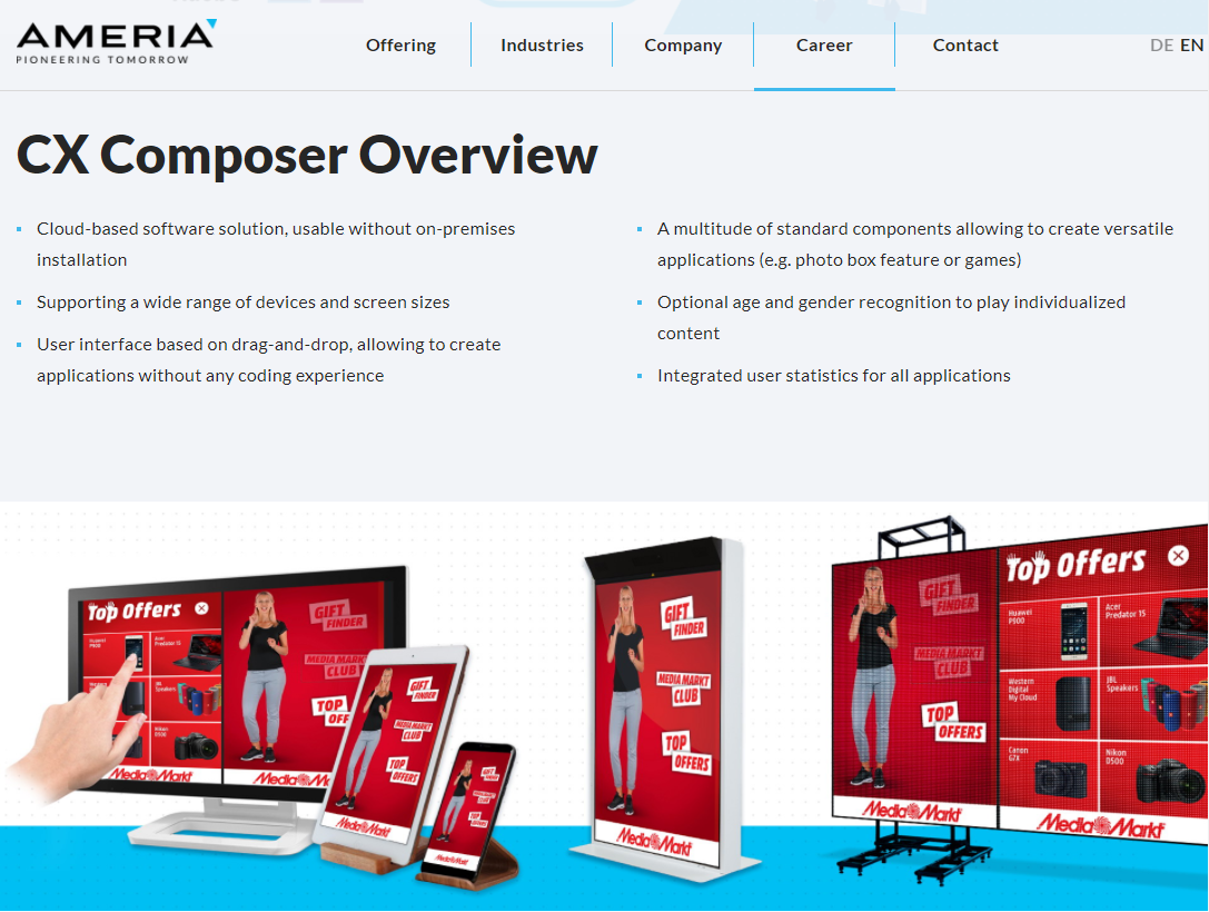 Impressions from the new AMERIA website