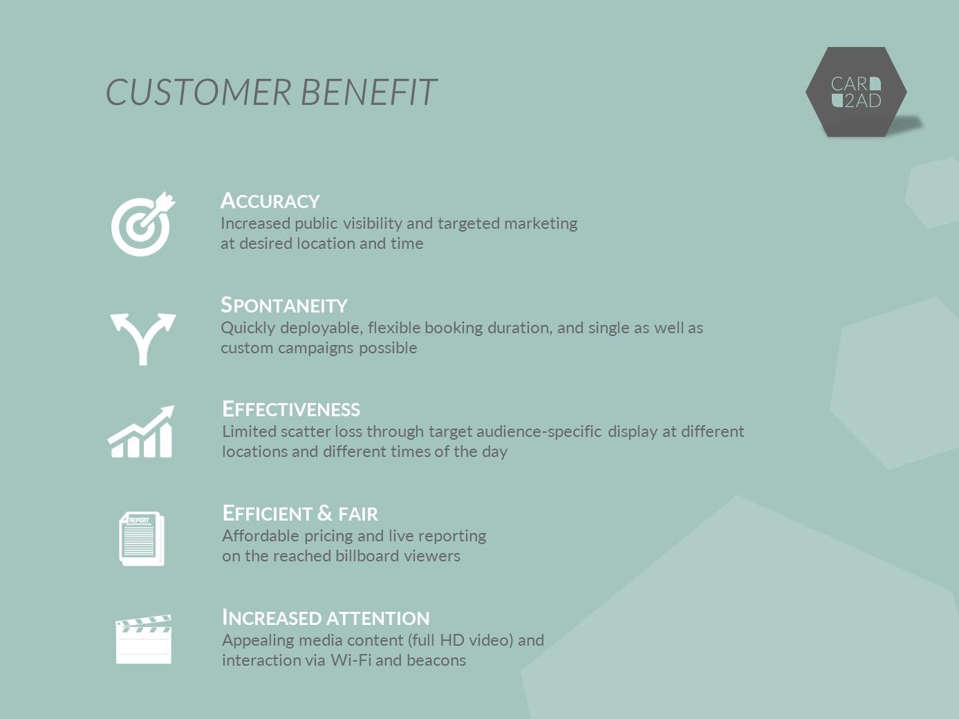 CAR2AD - customer benefit