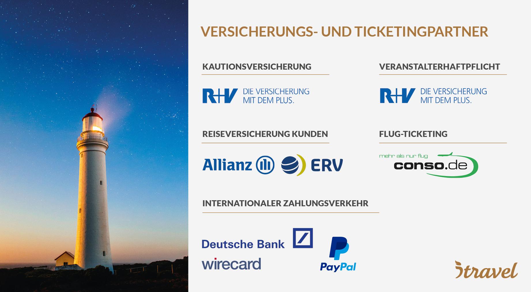Versicherungs und Ticketing-Partner von itravel