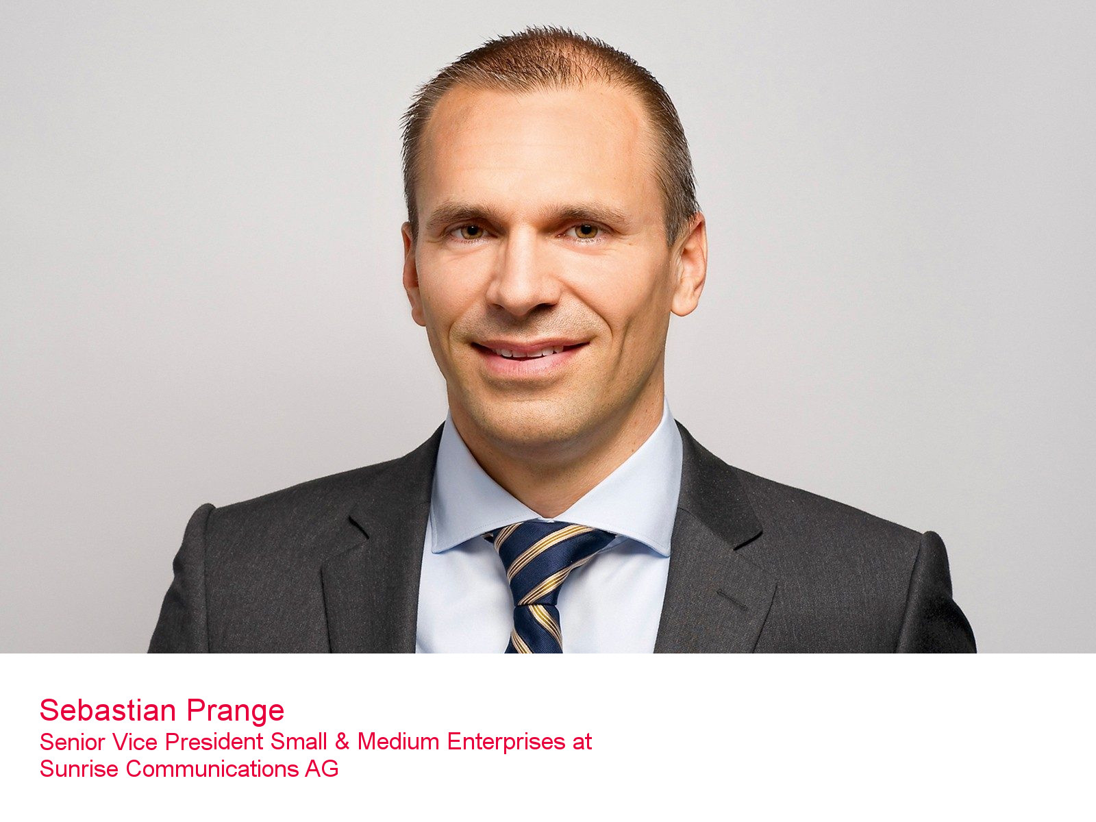 Sebastian Prange, Senior Vice President Small & Medium Enterprises bei Sunrise Communications AG