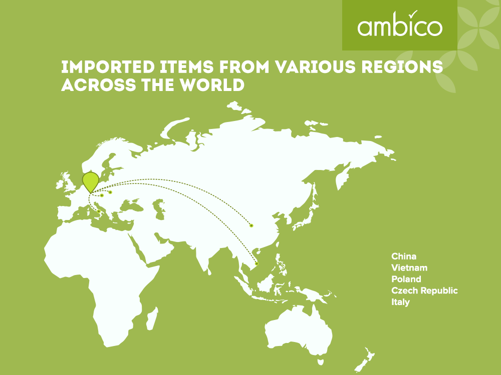 ambico - Import of items from various regions
