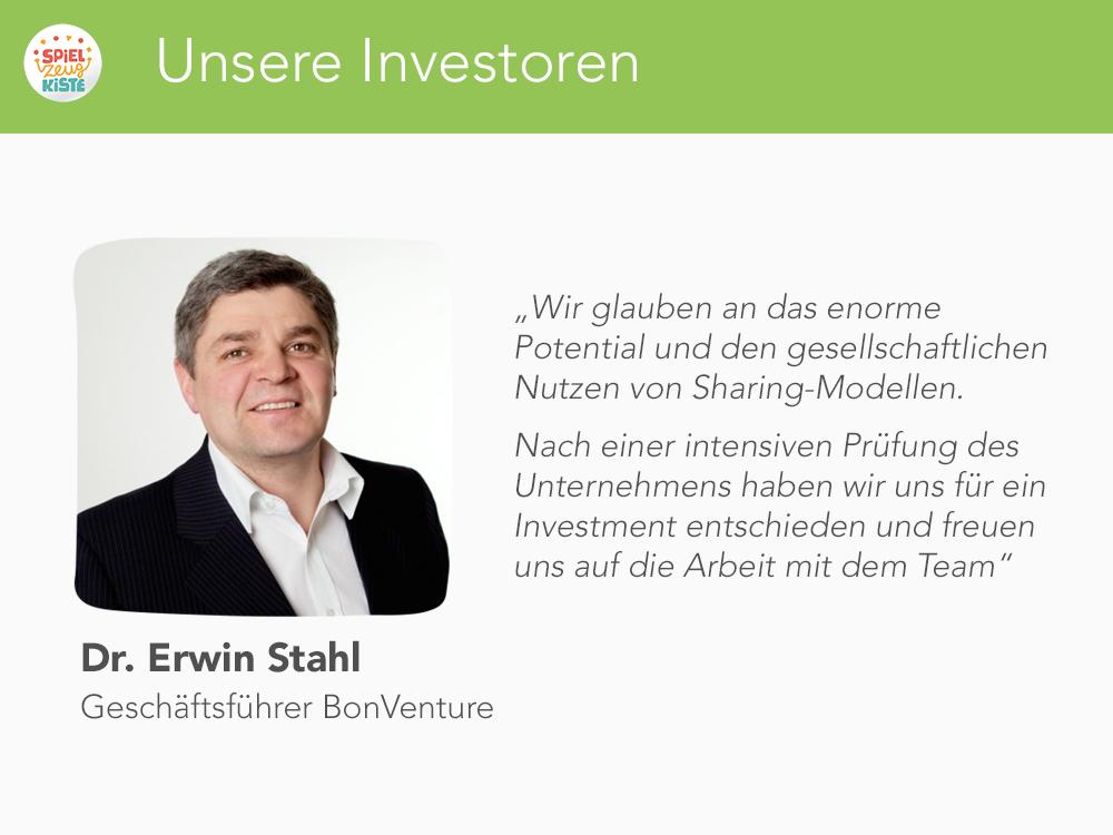 Unsere Investoren - Erwin Stahl