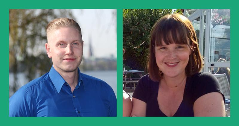 Jan Rimarzik (Kundenmanagement) und Laura Sophie Bunzel (Produkt-Management)