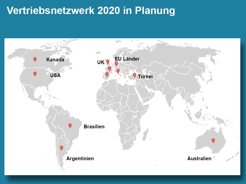 Vertriebsnetzwerk 2020 in Planung