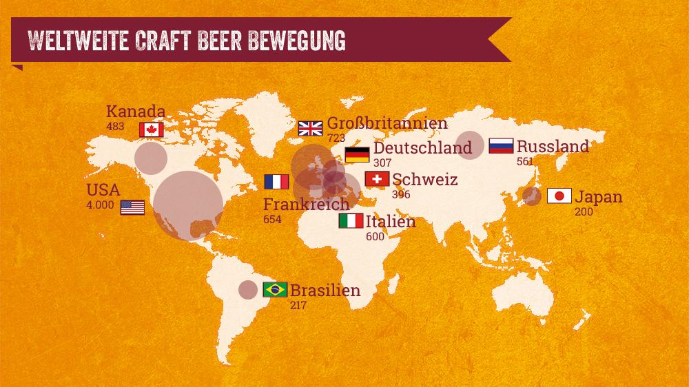 Übersicht Craft Beer Brauereien weltweit - Bier-Deluxe