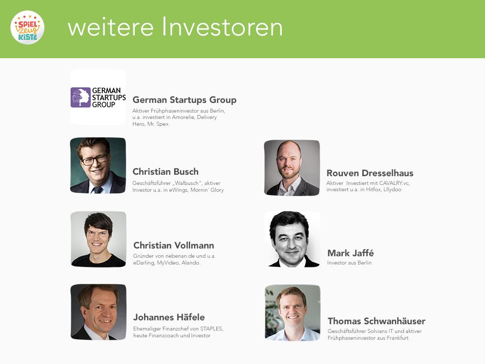 weitere Investoren von MeineSpielzeugkiste