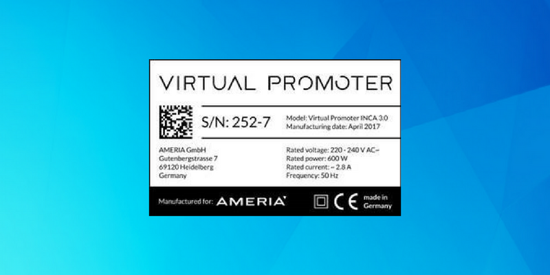 Badge Serienfertigung Virtual Promoter