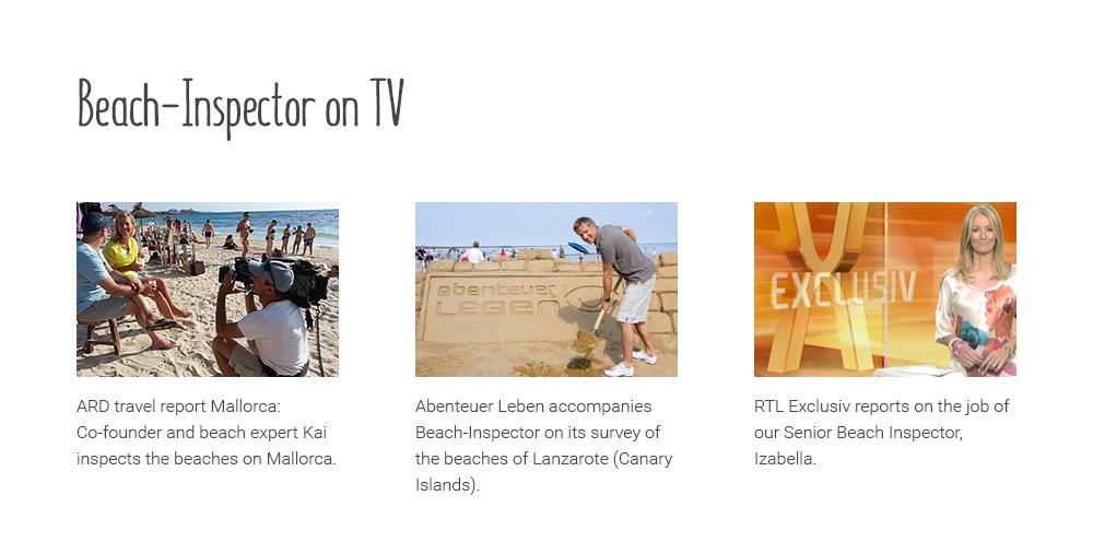 Beach-Inspector on TV