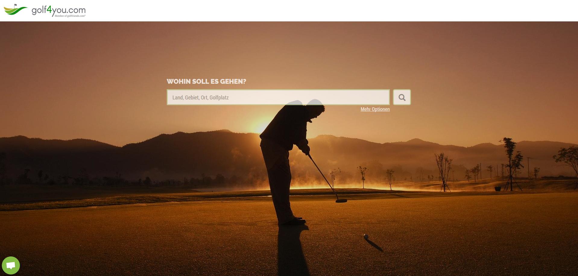 golf4you Reiseportal Startseite