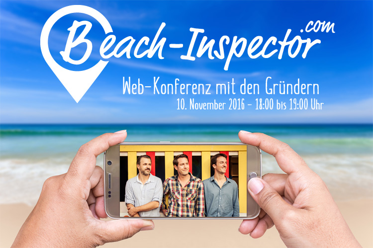 Live-Web Konferenz with Beach-Inspector