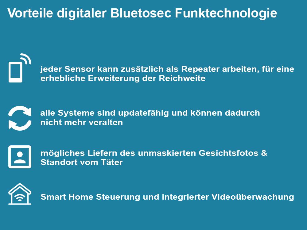 Vorteile digitaler Bluetosec Funktechnologie