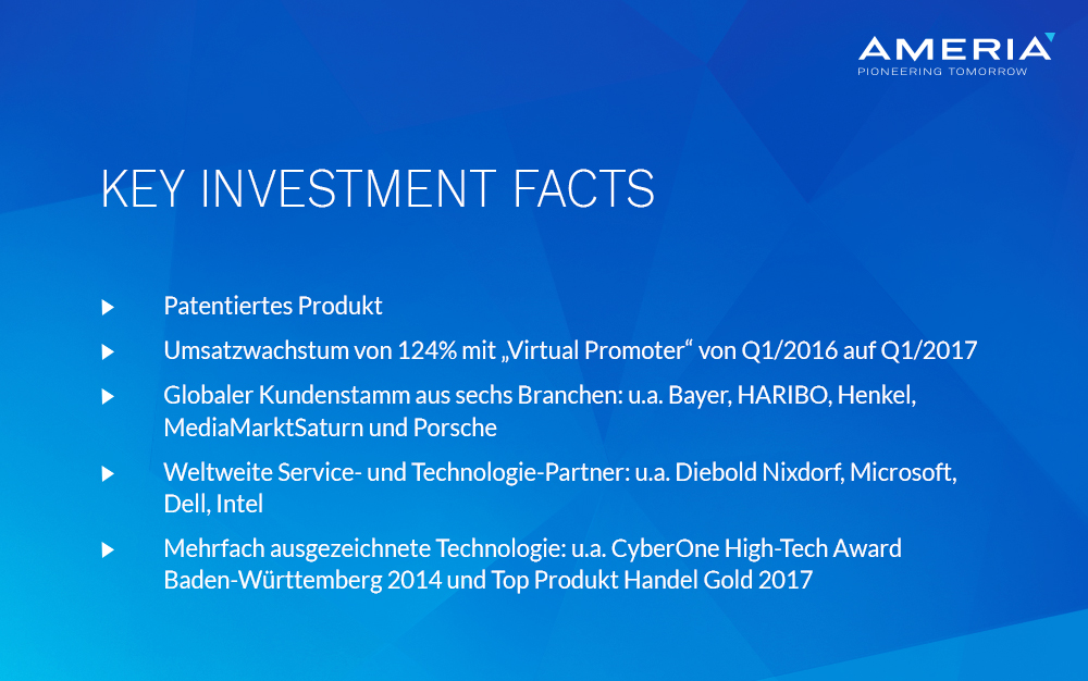 AMERIA Key Investment Facts