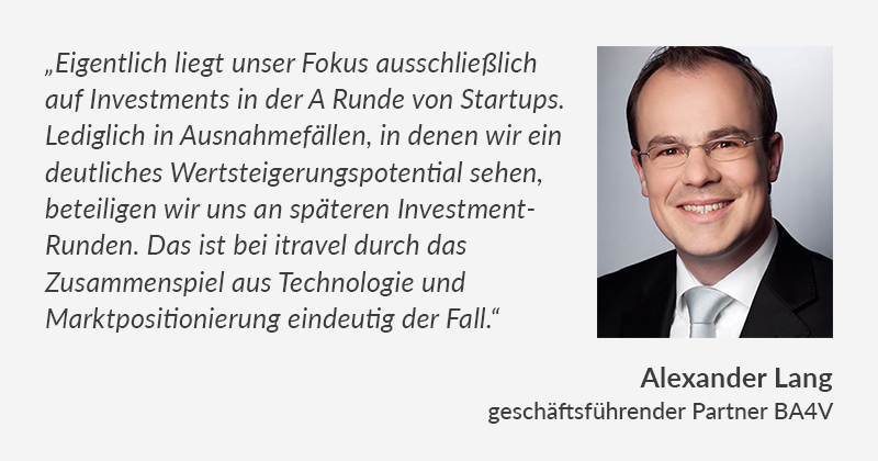 Alexander Lang über das itravel Investment