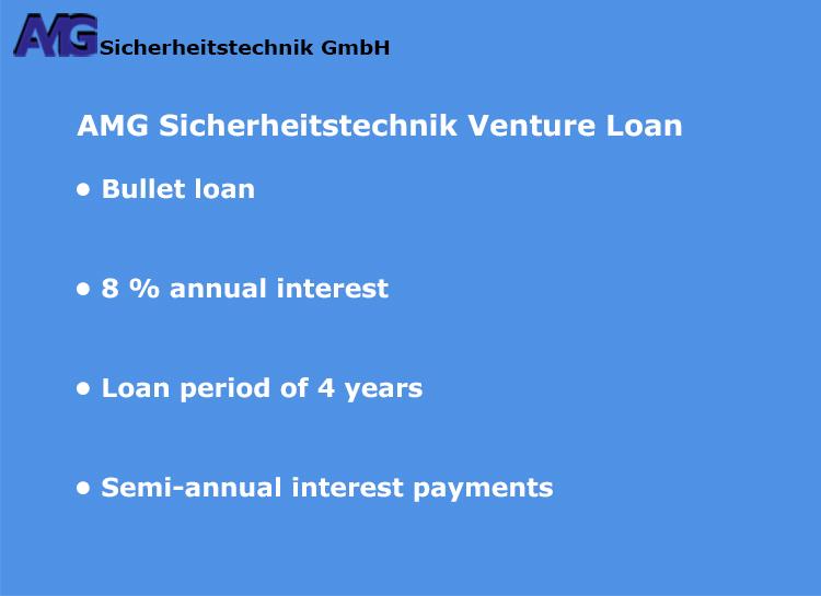 AMG Sicherheitstechnik - Venture Loan