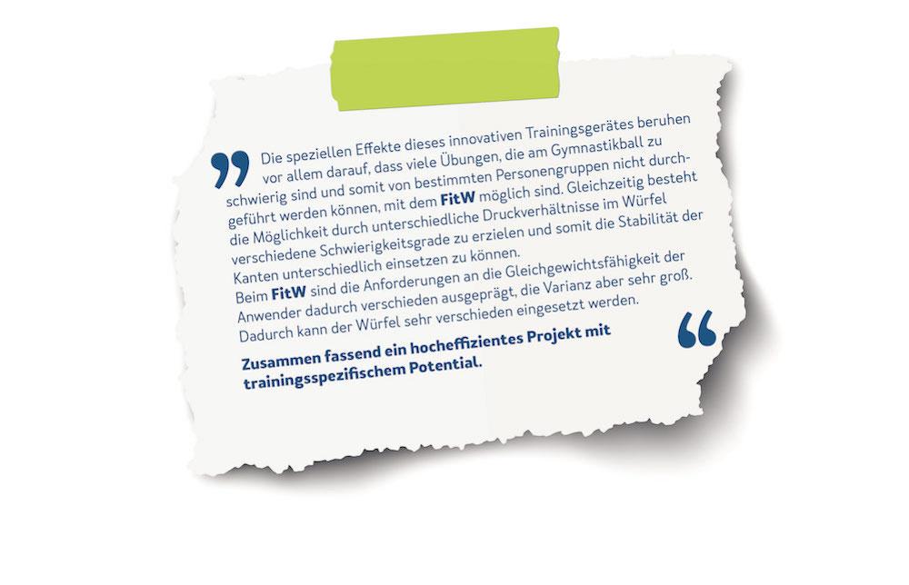 Auszug des Gutachten zum FitW