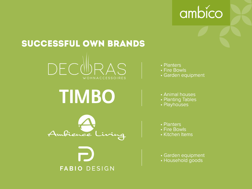 ambico - Successful own trademarks