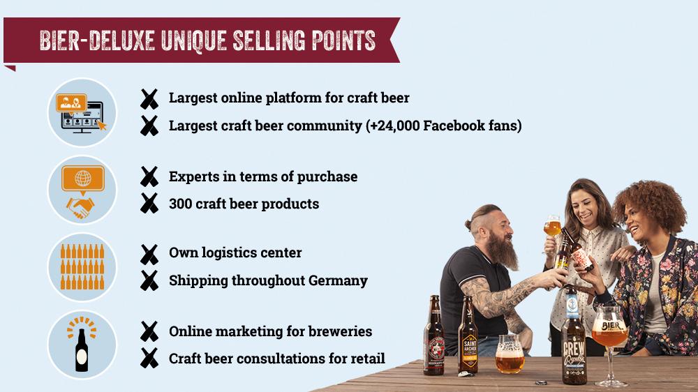 Bier-Deluxe Unique Selling Points