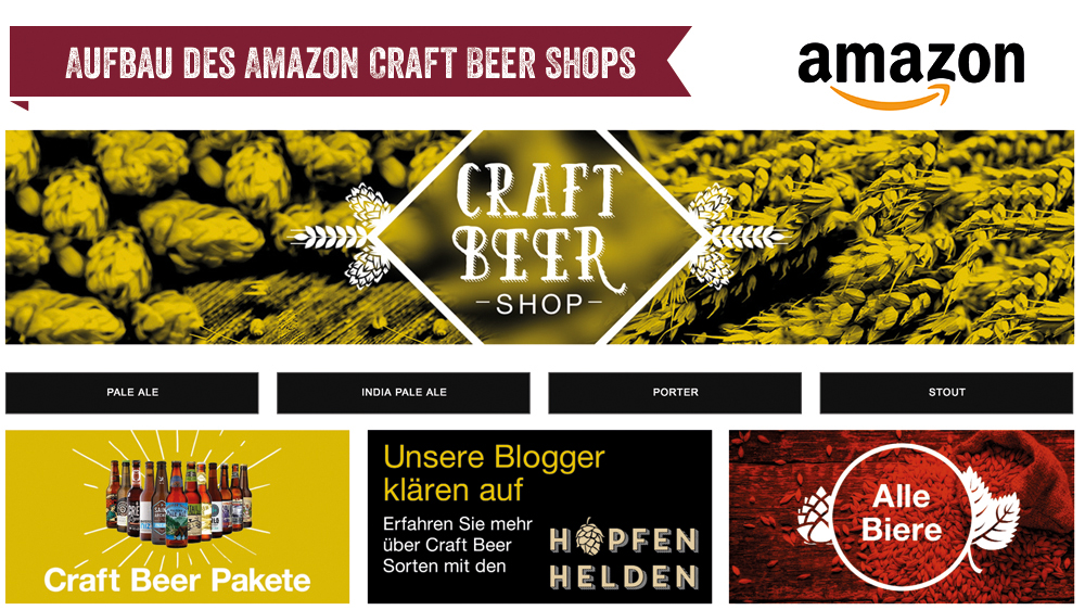 Aufbau des Amazon Craft Beer Shops